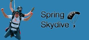 A spring charity skydive is to be held by the Children's Respite Trust Charity for disabled children in Sussex, Kent from Sevenoaks to Eastbourne