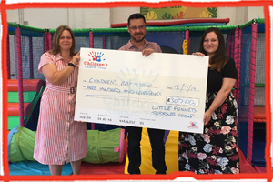 Little Punnetts Toddler Group donate £307 to the Children''s Respite Trust