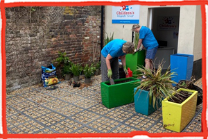 Volunteers at the Garden of the Children's Respite Trust in Uckfield