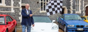 Councillor Ron Reed Launches the Racetrack Run Charity Rally for the Children's Respite Trust in Sussex and Kent